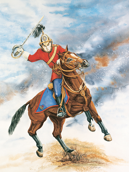 Charging Dragoon, Commissioned by the Guild of the Royal Canadian Dragoons, Petawawa, Ontario