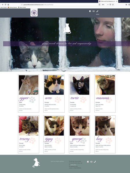 Paws and Kisses 4 Second Chances, website design and maintenance, Bourgette, Ontario [2017-current]